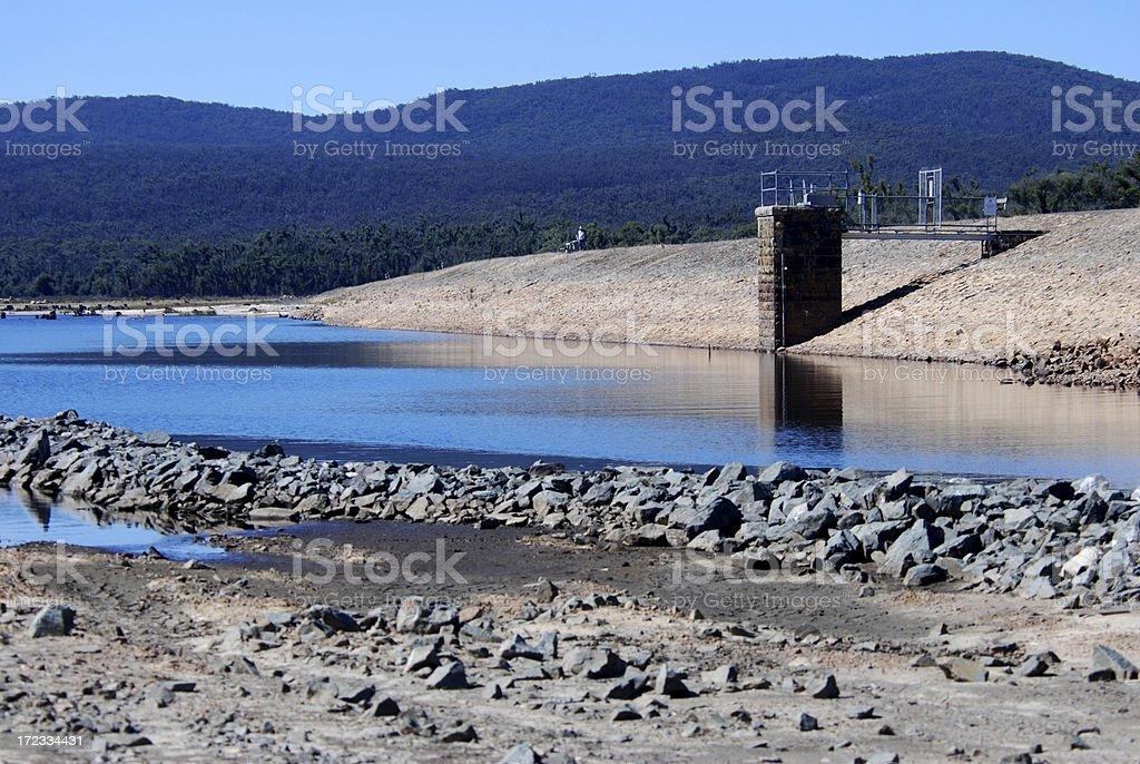 Wartook Lake, extreme low levels royalty-free stock photo