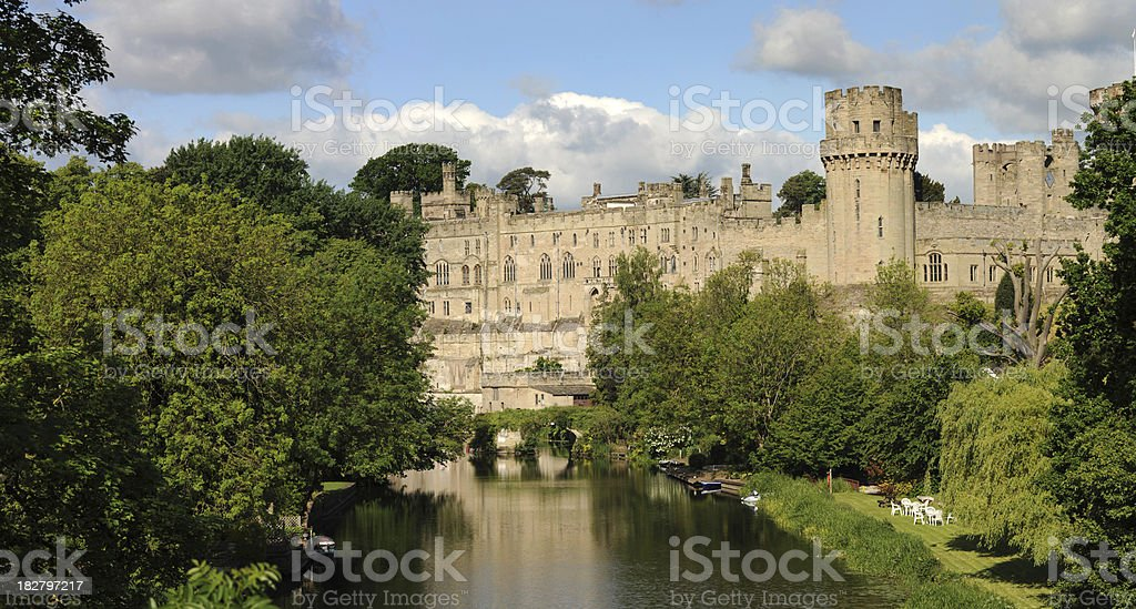 Warwick Castle. stock photo