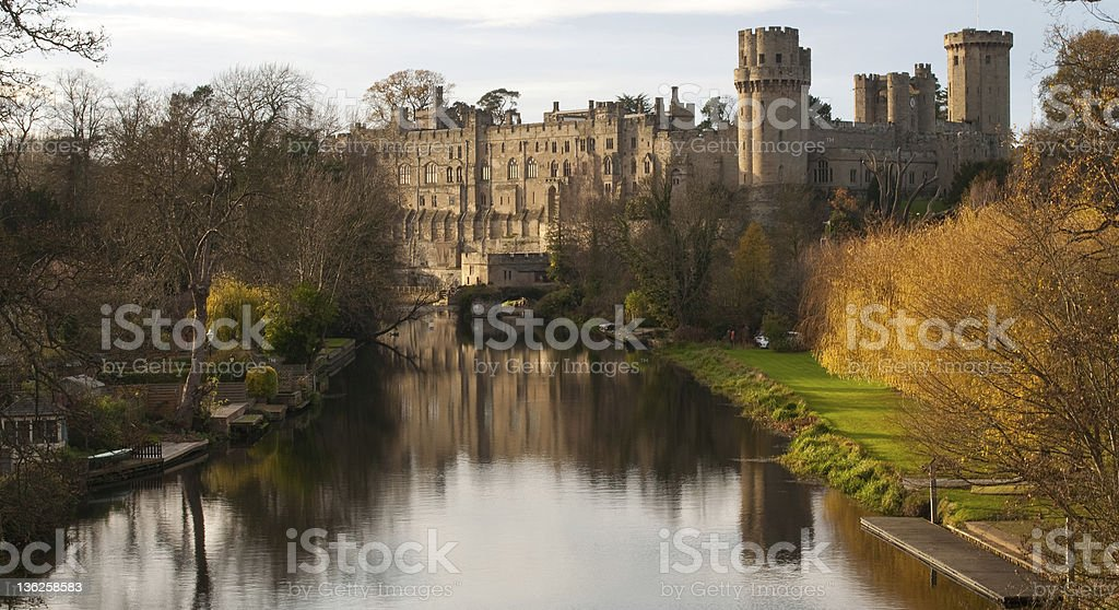 Warwick Castle,England stock photo