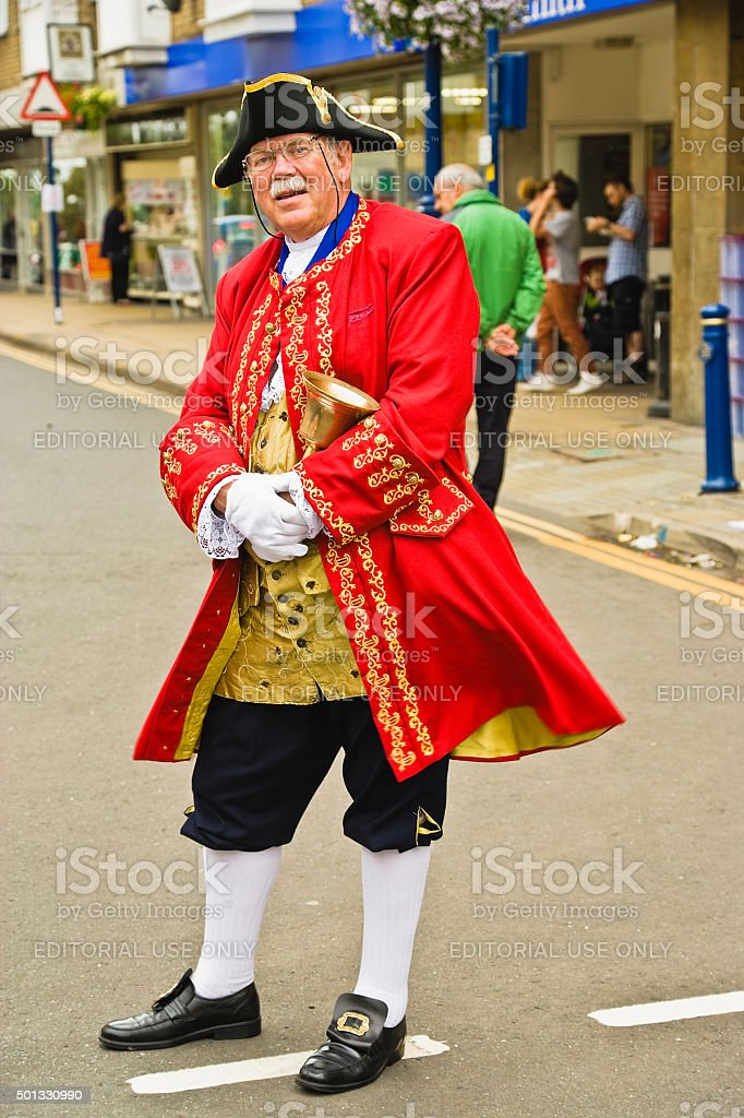 Warwick City Official Town Crier 'editorial Only' stock photo