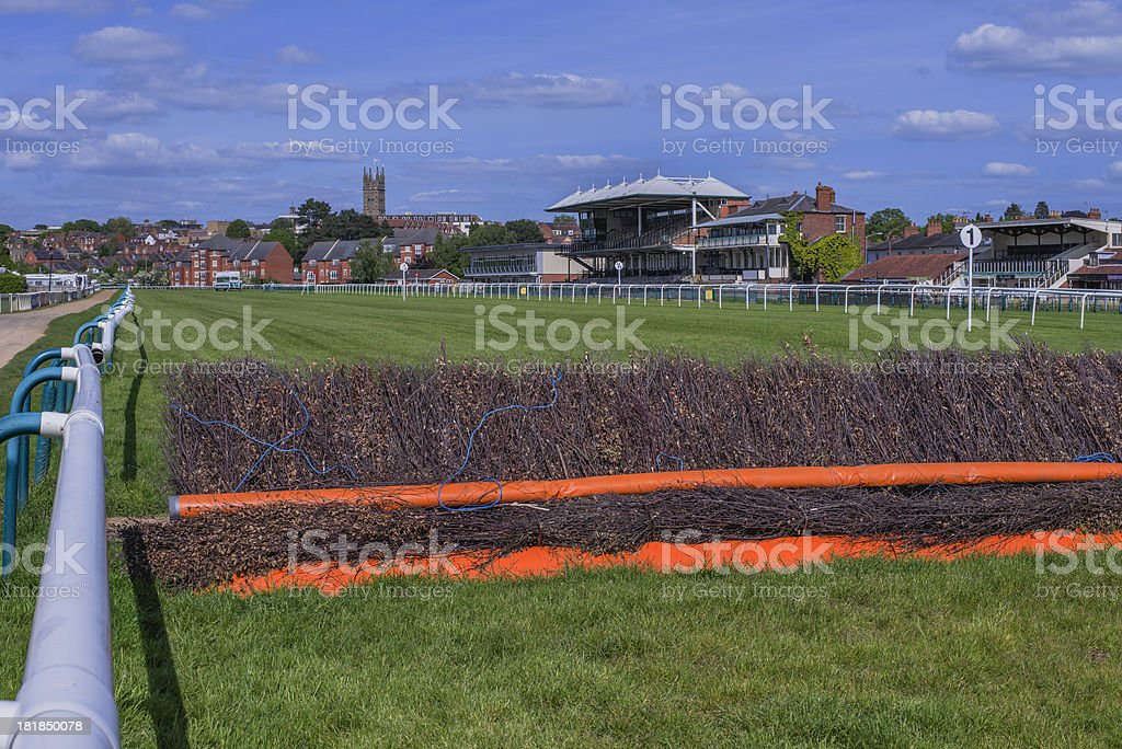 warwick racecourse stock photo