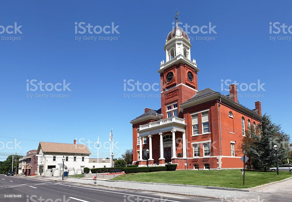 Warwick, Rhode Island City Hall stock photo