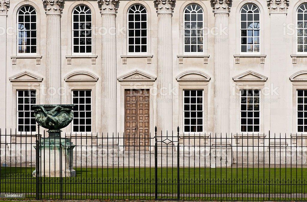 Warwick Vase and Senate House, Cambridge University royalty-free stock photo
