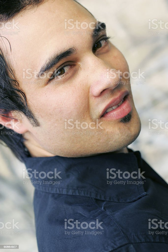 Wary Stranger royalty-free stock photo