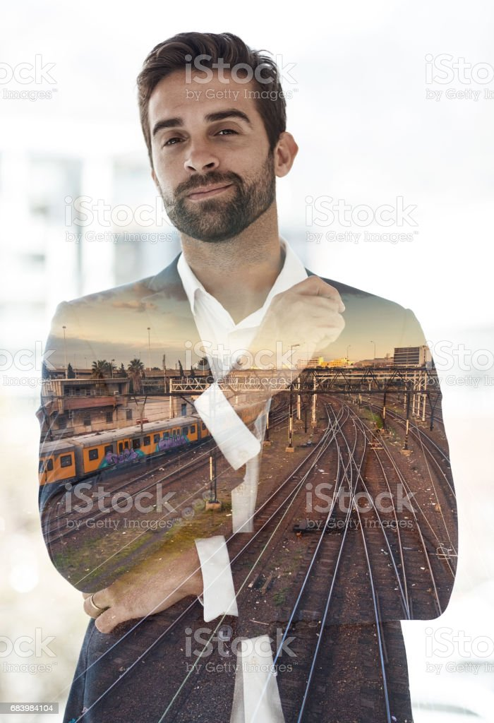 I was born for this business thing stock photo