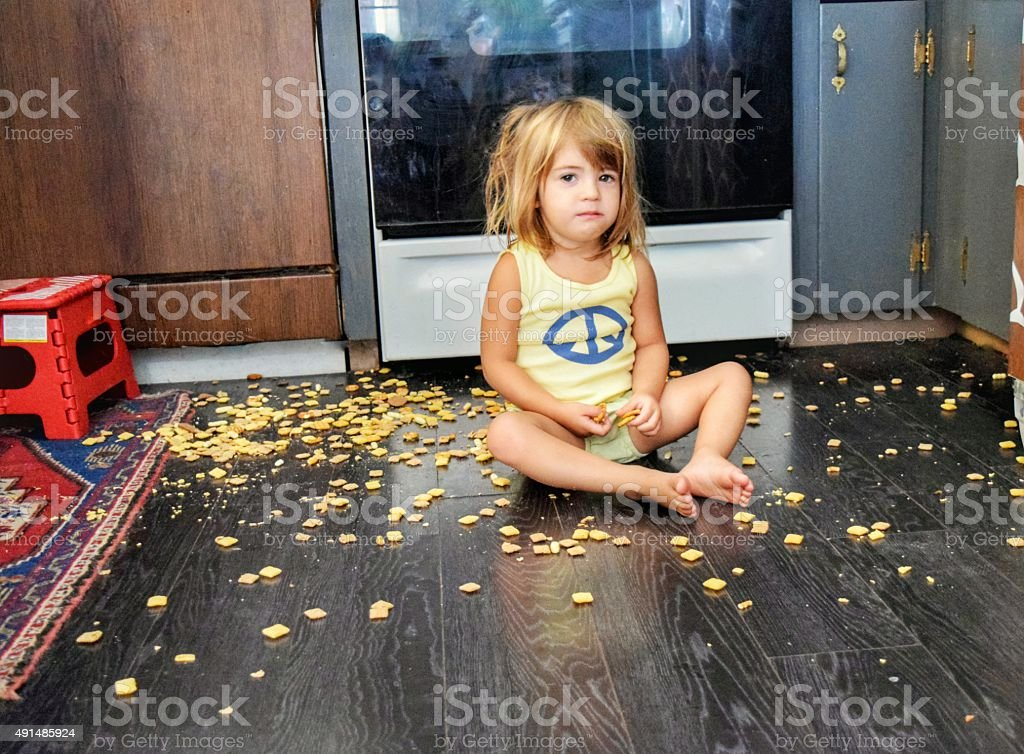 I was hungry. stock photo