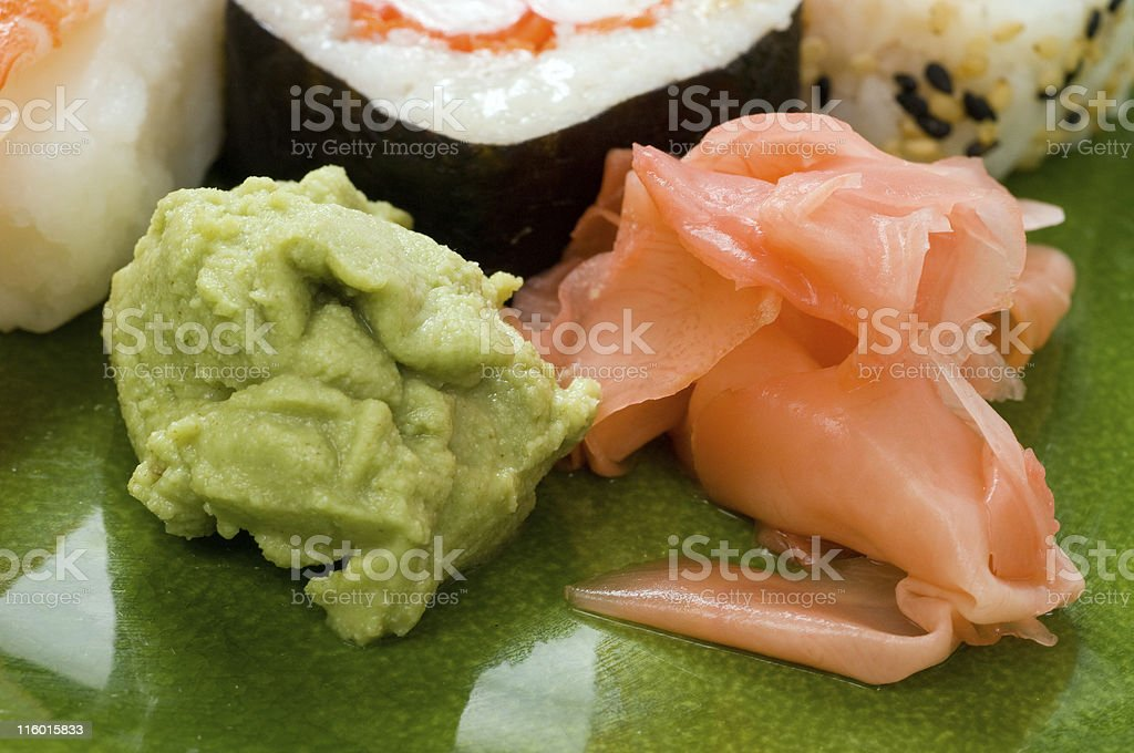 Wasabi and ginger royalty-free stock photo
