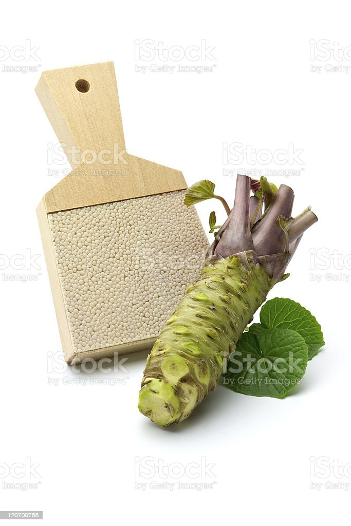 wasabi and grater stock photo