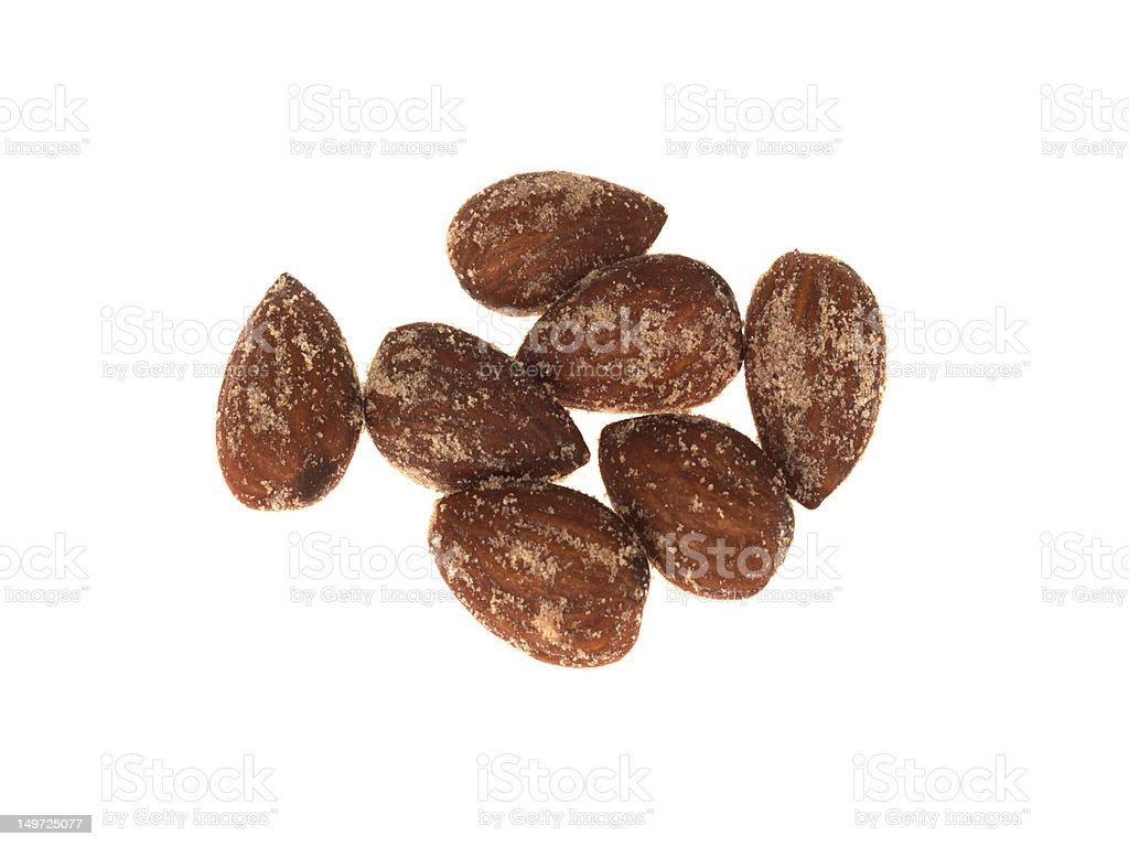 Wasabi and Soya Roasted Almonds stock photo