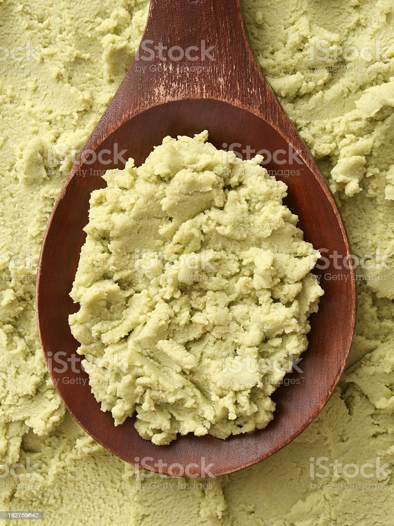Wasabi paste stock photo