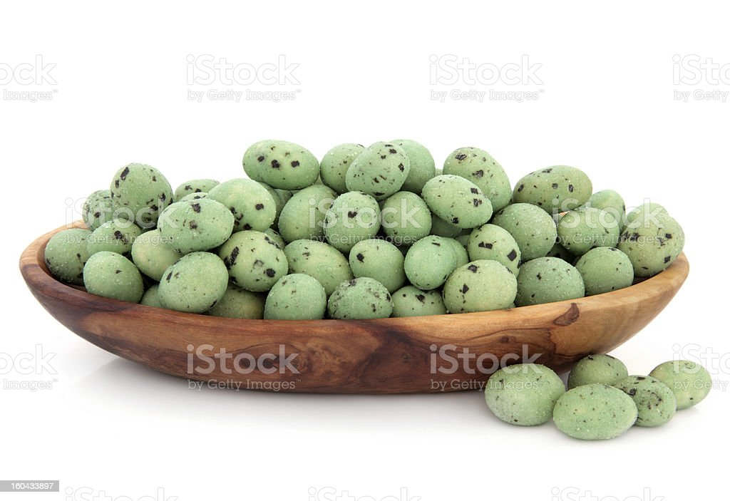 Wasabi Peanuts royalty-free stock photo