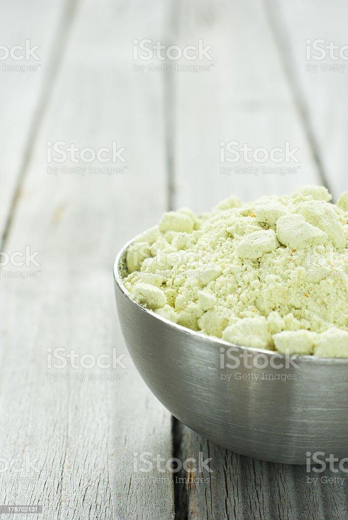 Wasabi powder royalty-free stock photo