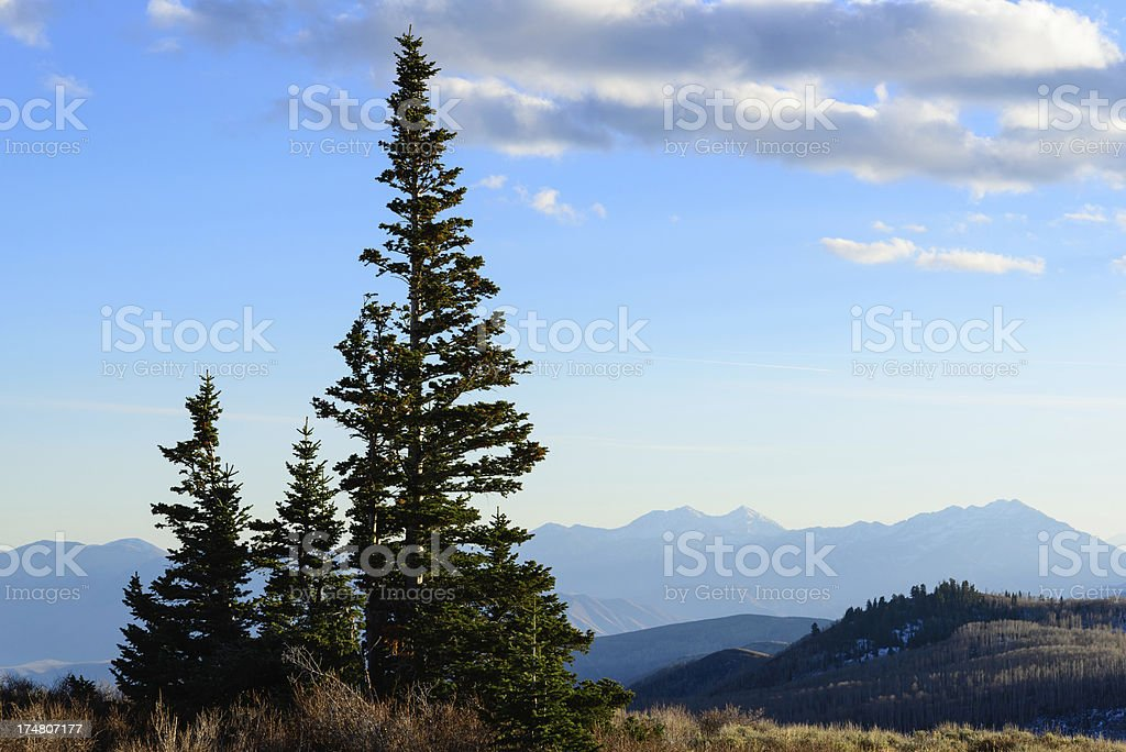 Wasatch Mountains in Late Fall Landscape royalty-free stock photo