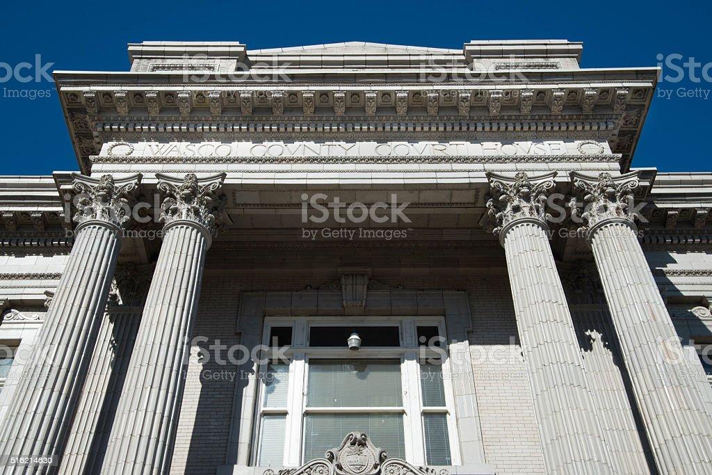 Wasco County Courthouse stock photo