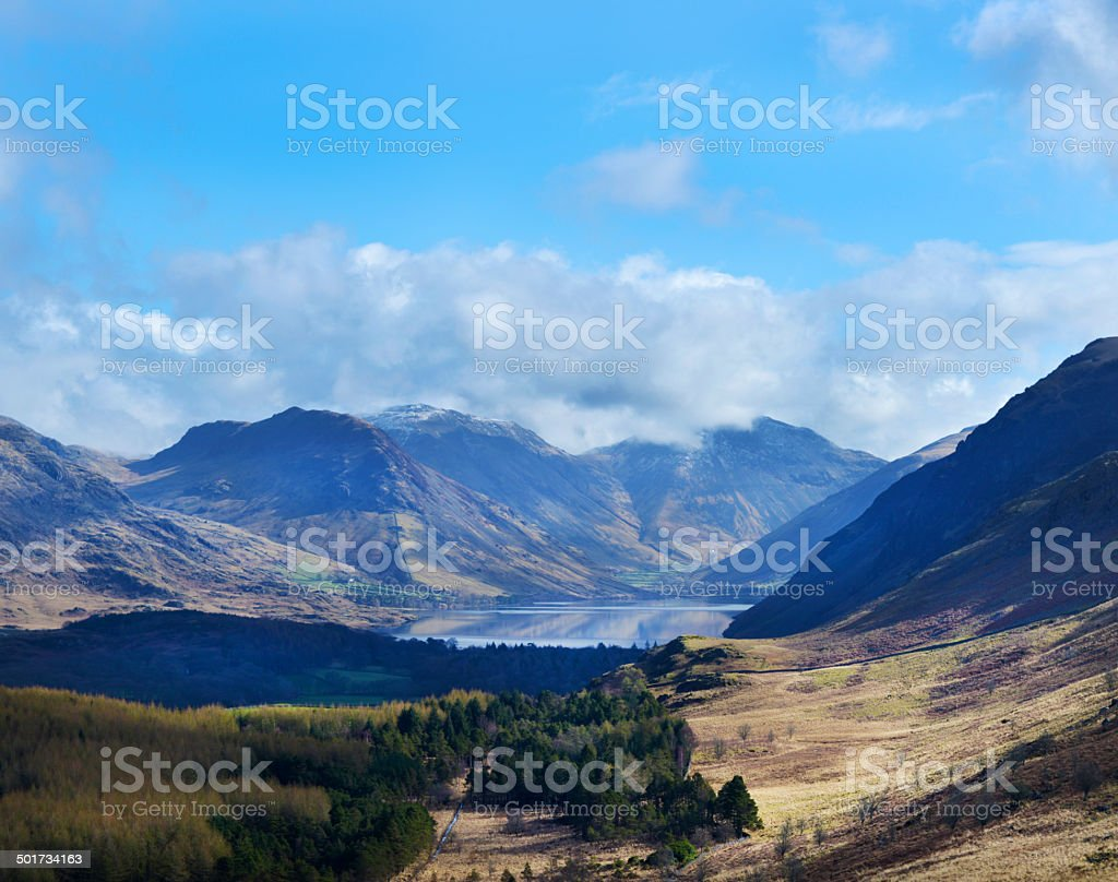 Wasdale Head and Circle of Mountains stock photo
