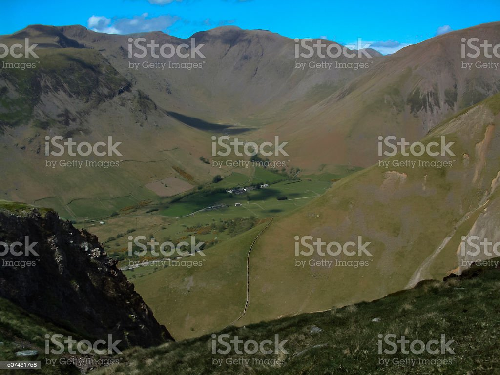 Wasdale Head from Scafell stock photo
