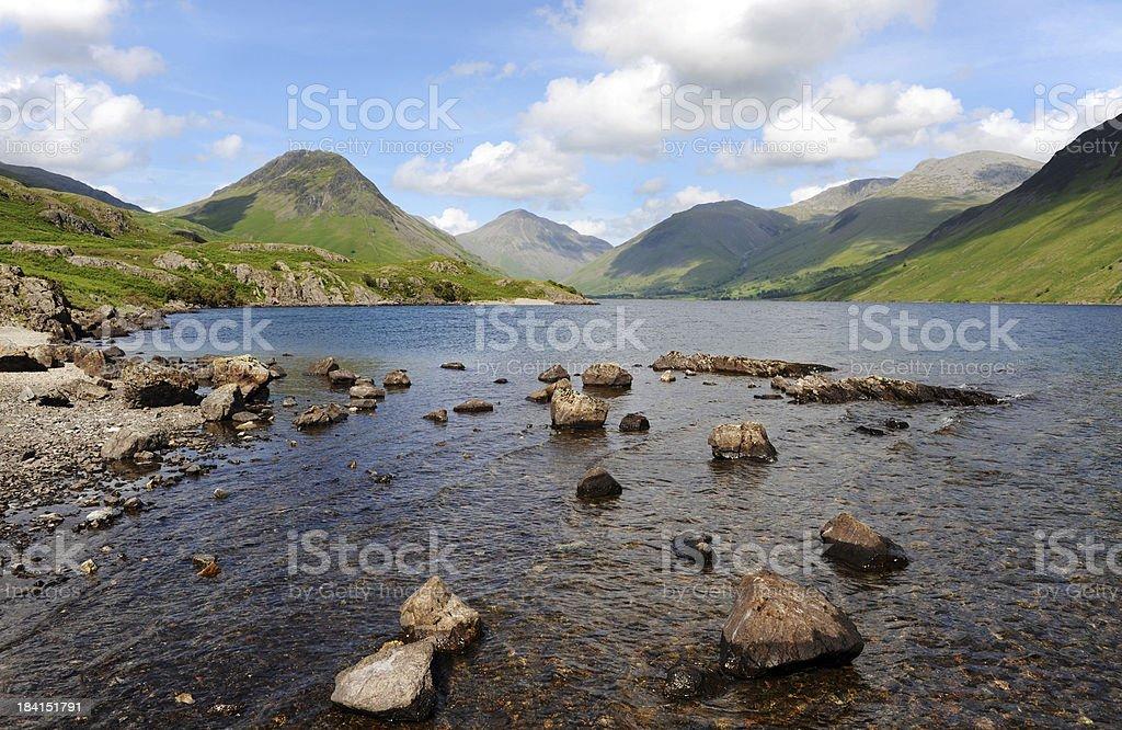Wasdale Head in Cumbria stock photo