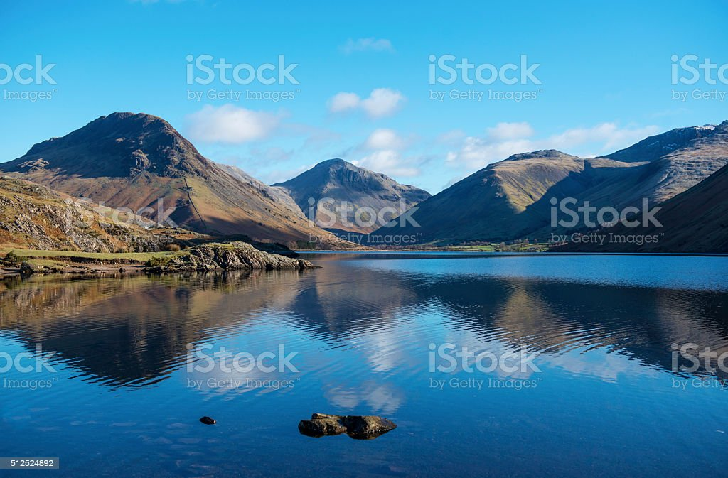 Wasdale Head Mountains in English Lake District stock photo