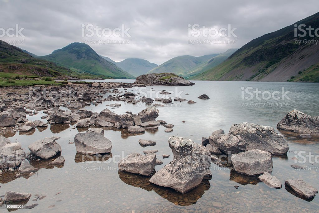Wasdale in English lake District Seen Across Wast Water stock photo