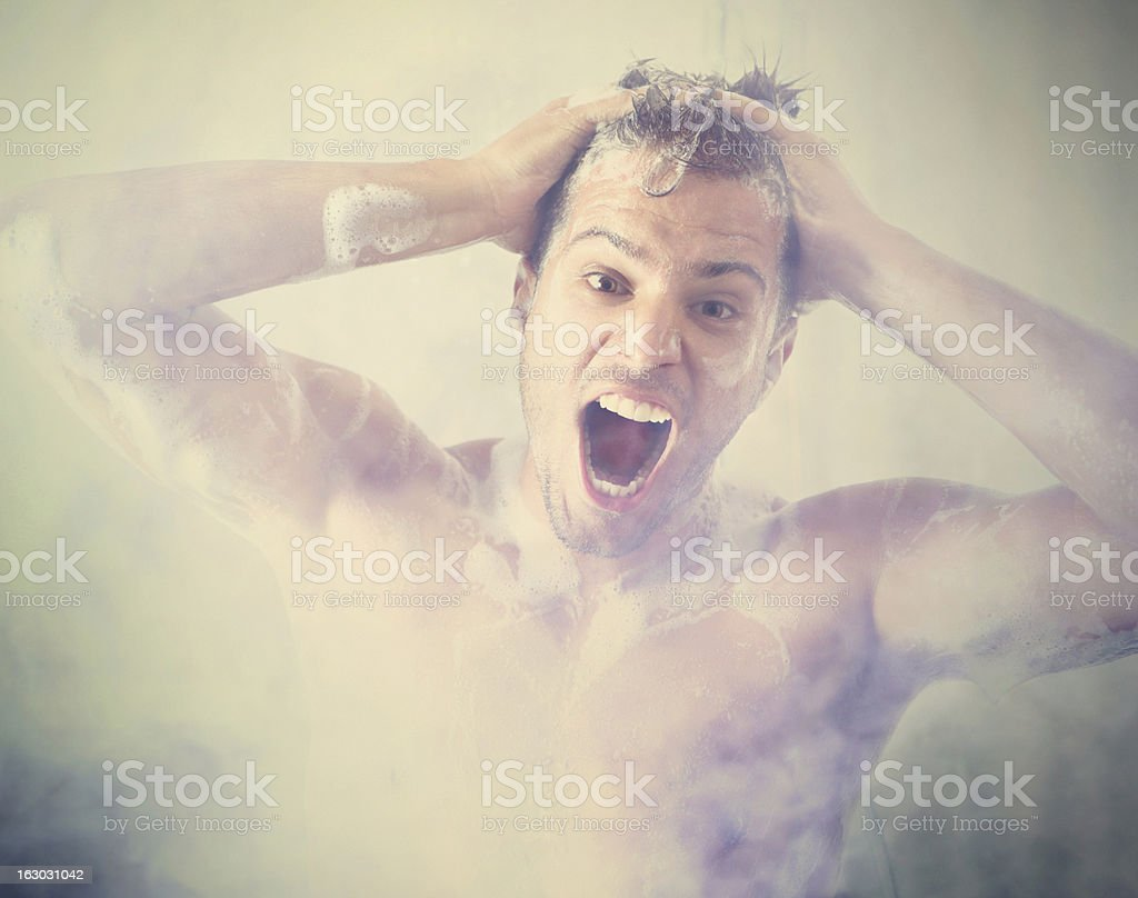 Wash and go crazy. stock photo