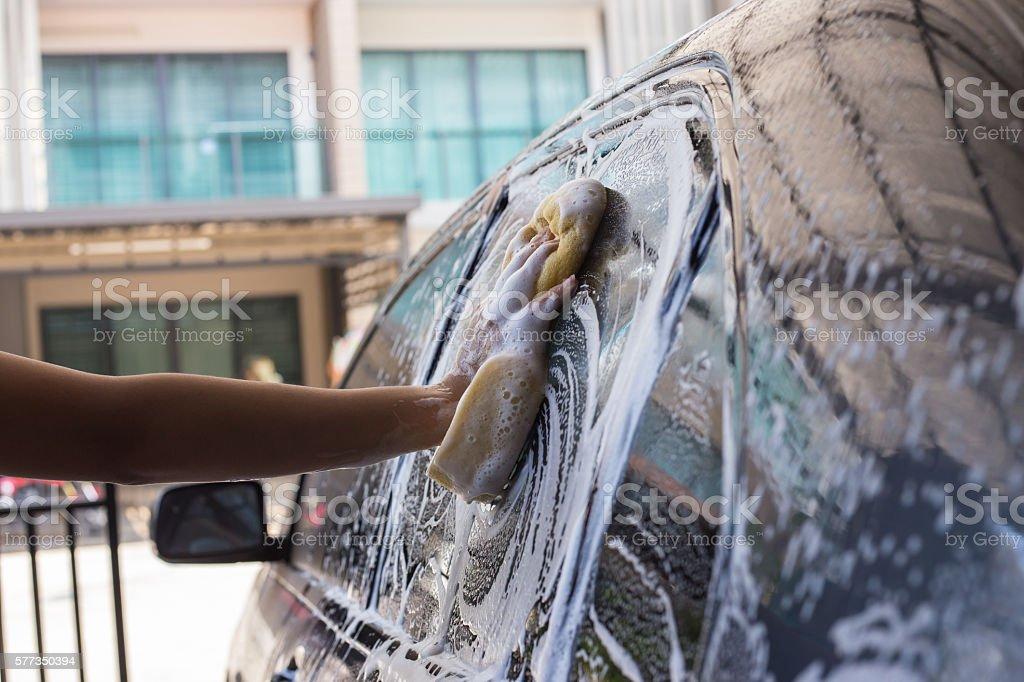 Wash car. stock photo