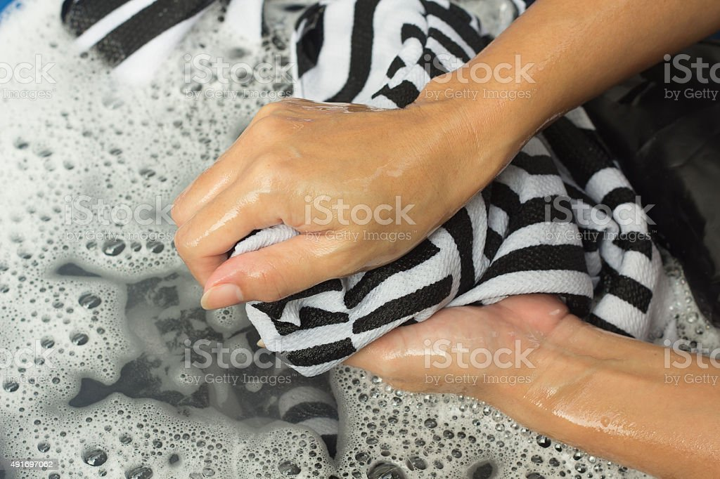 wash cloth stock photo