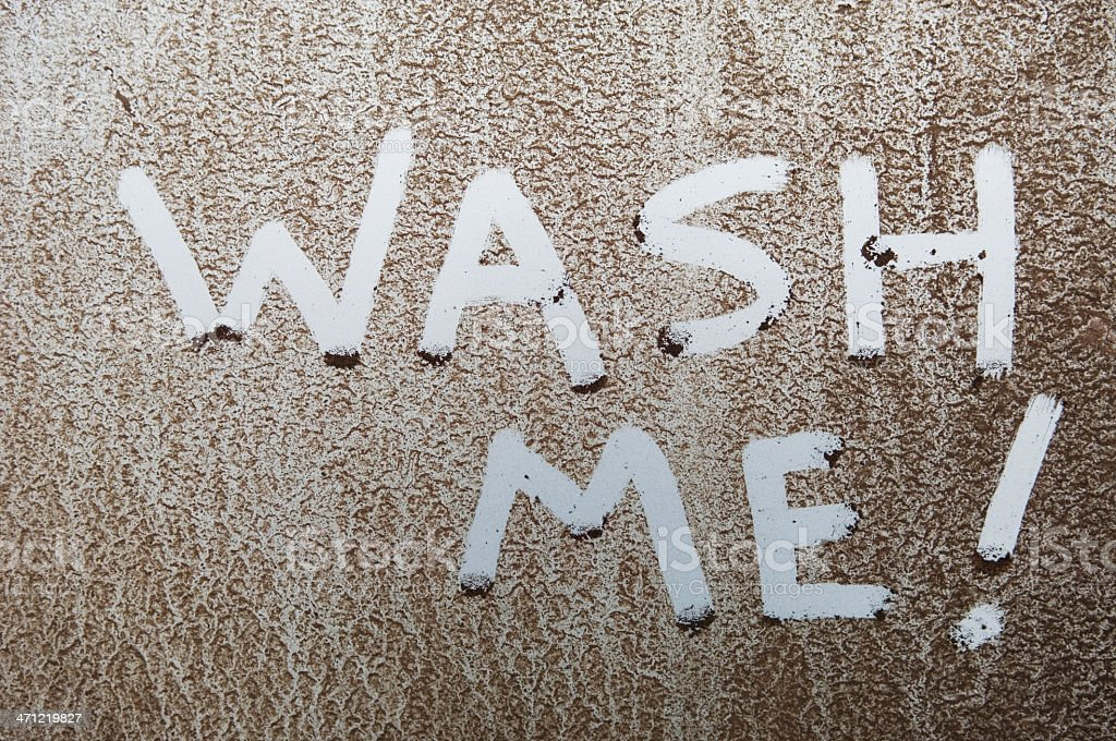 Wash Me! royalty-free stock photo