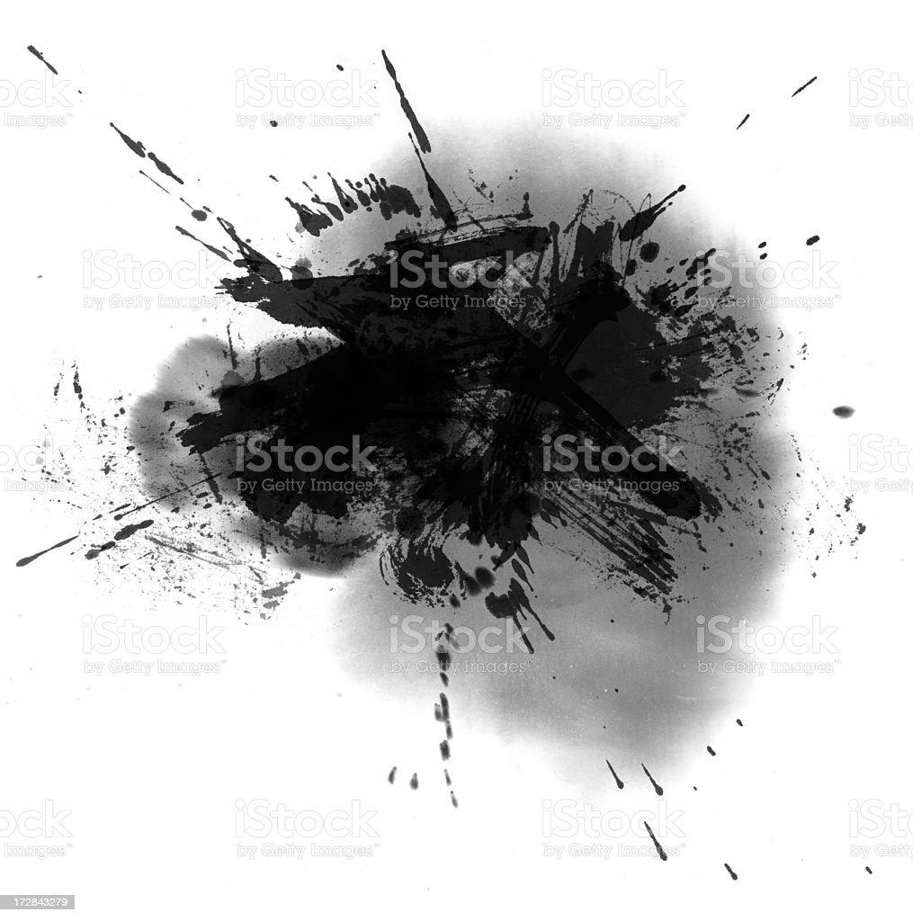 Wash Painting Splatter royalty-free stock photo