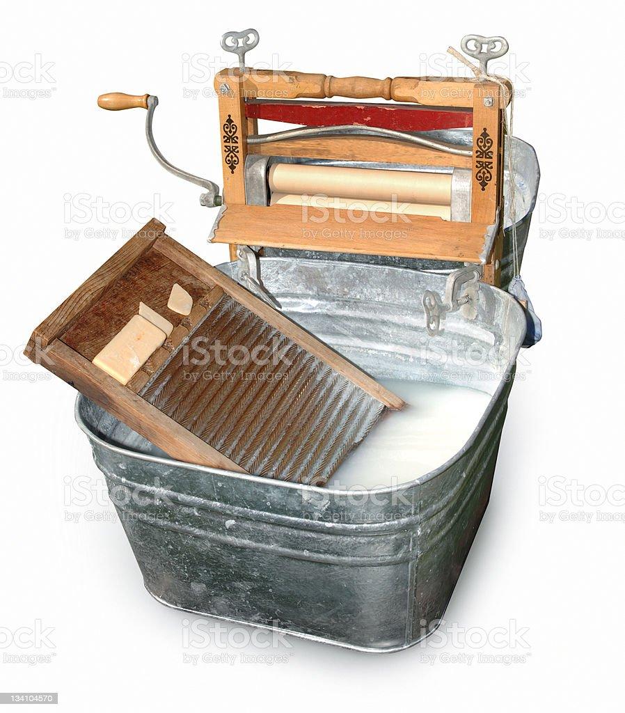Wash Tub & Ringer stock photo