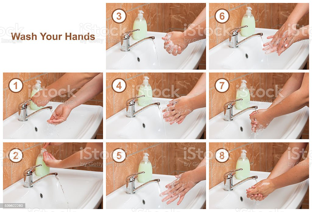 Wash Your Hands. Cleaning Hands. Hygiene stock photo