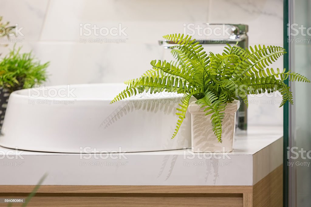 Washbasin counter stock photo