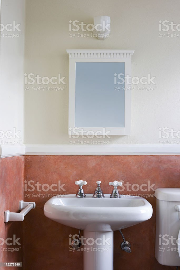 Washbowl and Mirror stock photo