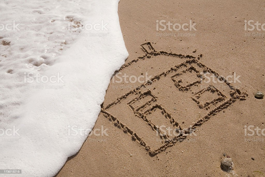 Washed away. royalty-free stock photo