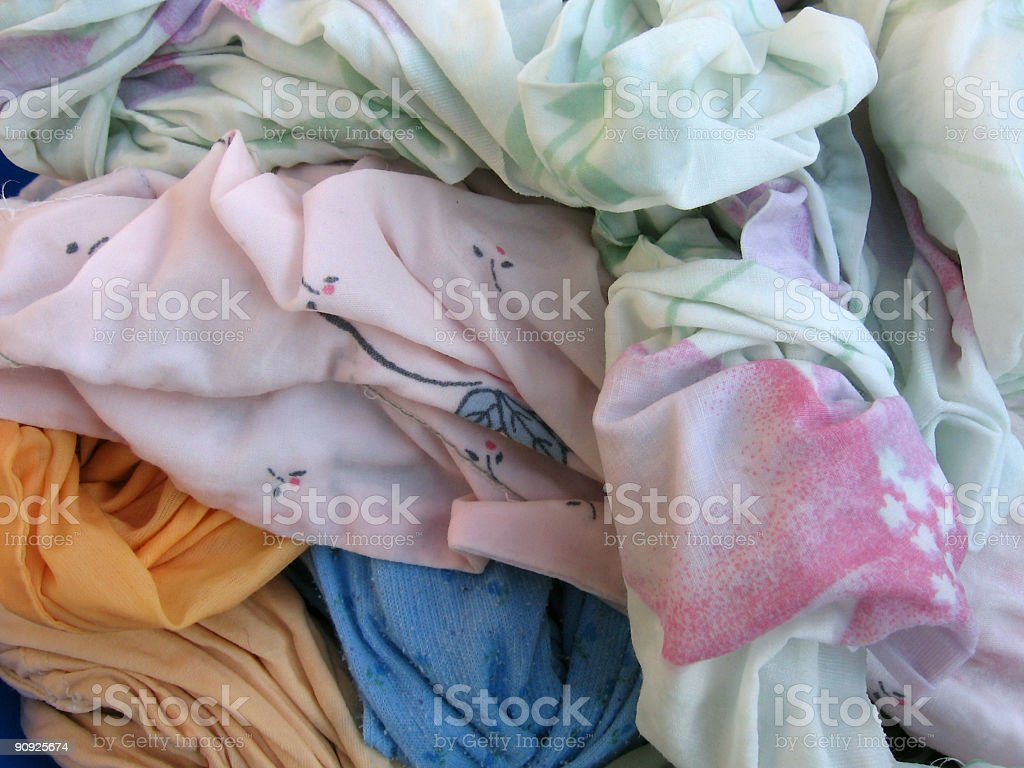 Washed clothes stock photo