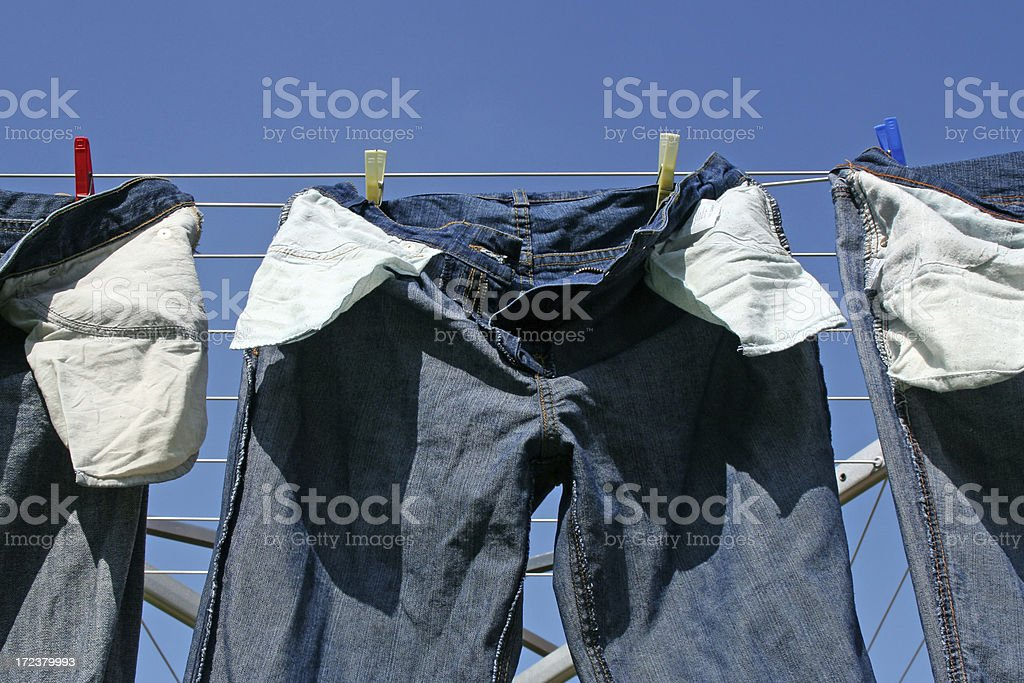 Washed jeans # 2 stock photo