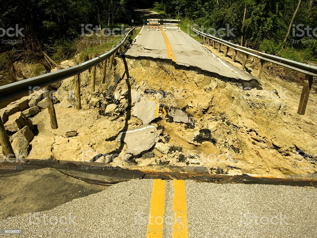 Washed out Bridge royalty-free stock photo