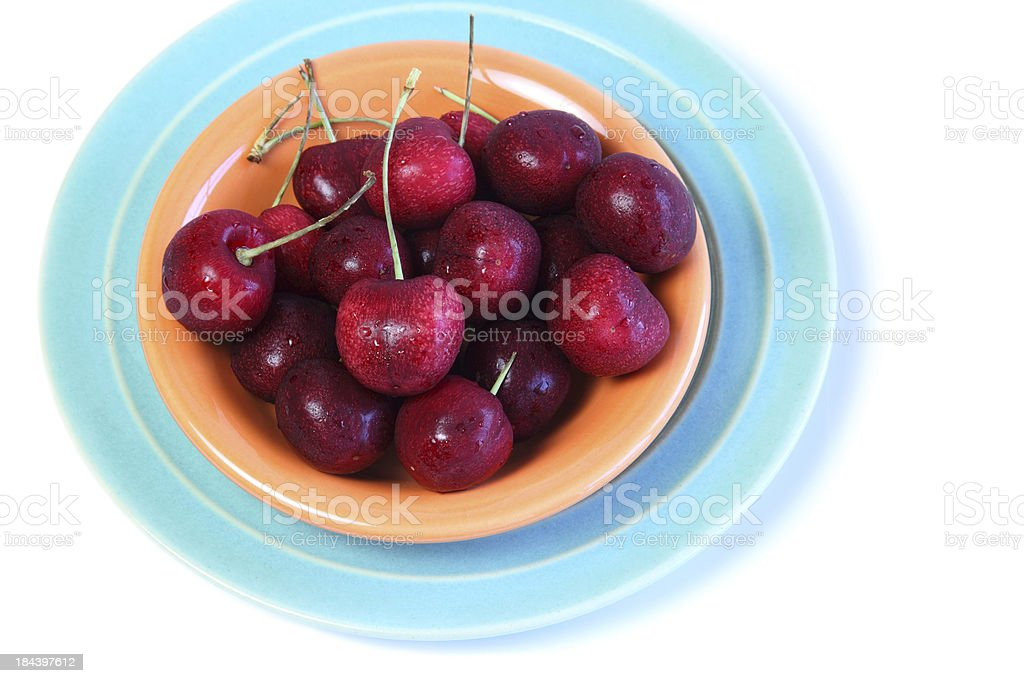 Washed Red Cherries stock photo