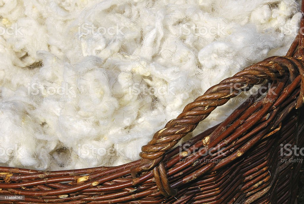 washed sheep wool stock photo