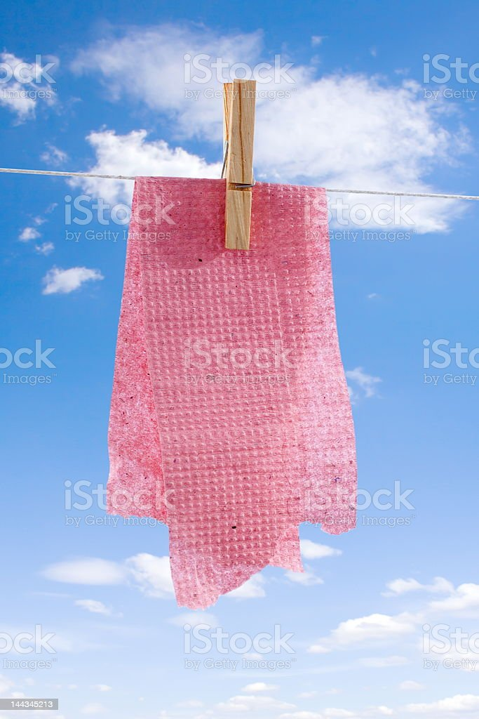 Washed toilet paper royalty-free stock photo