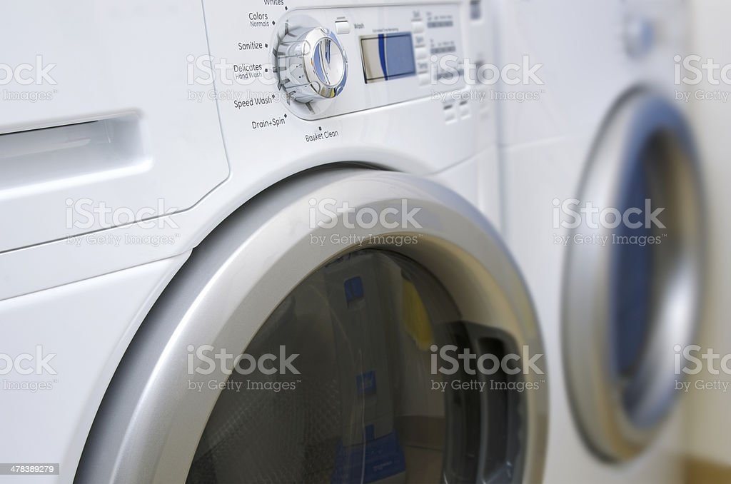 Washer and Dryer stock photo