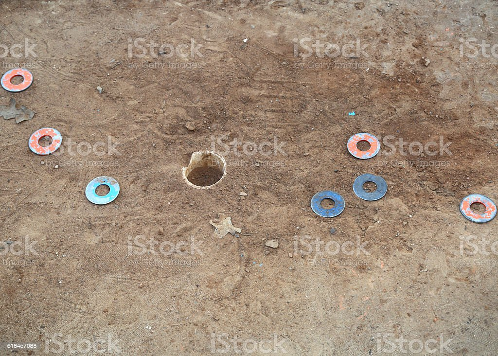 Washers game stock photo