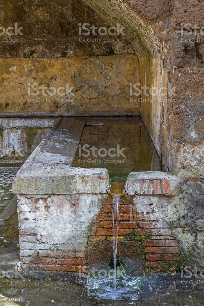 washhouse in Tuscani stock photo