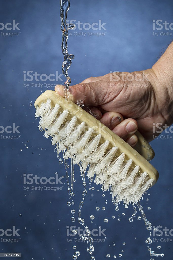 Washing a Brush royalty-free stock photo