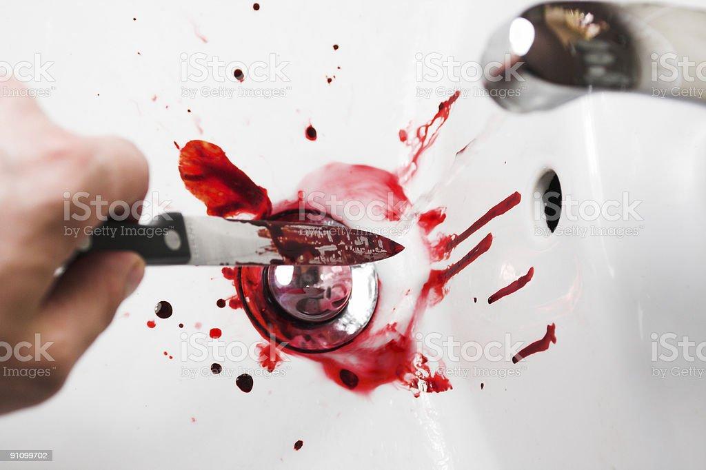 Washing Blood royalty-free stock photo