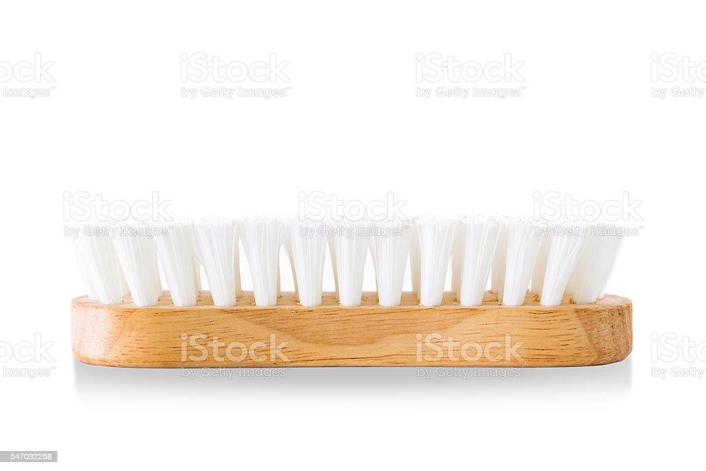 Washing brushes are made of wood. stock photo