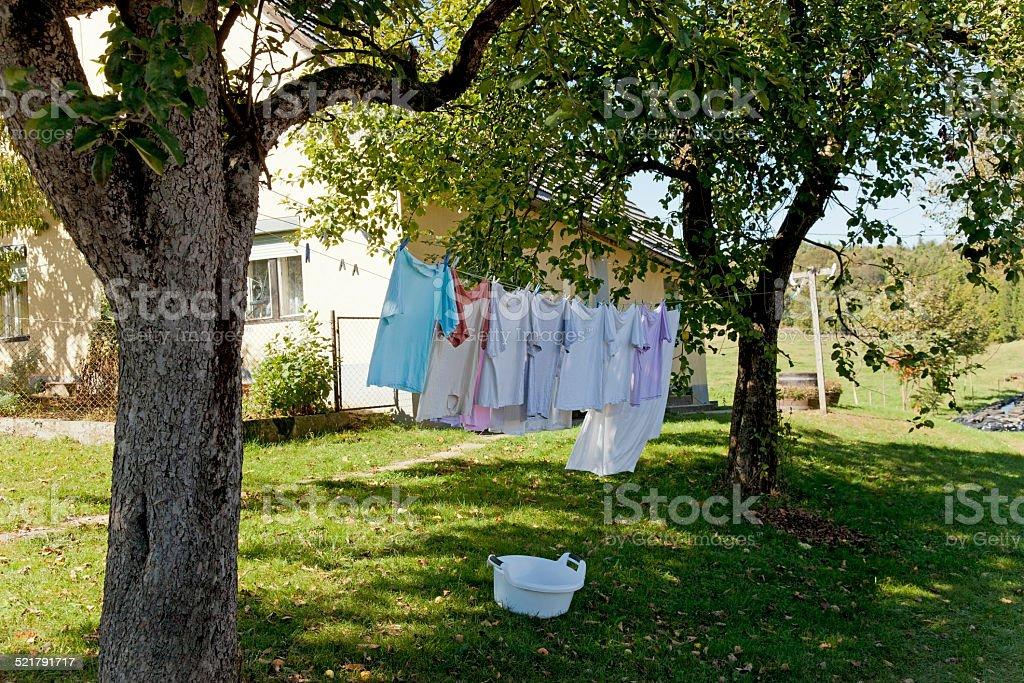Washing day stock photo