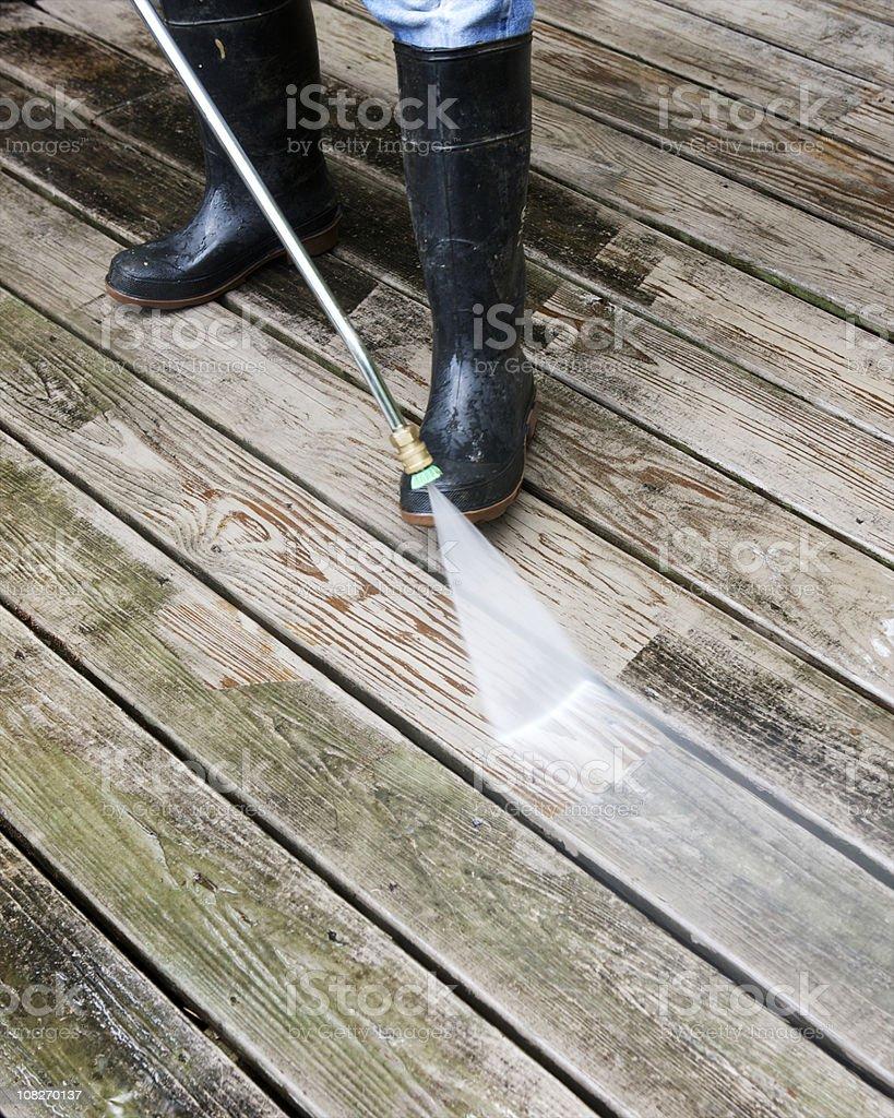 Washing Deck stock photo