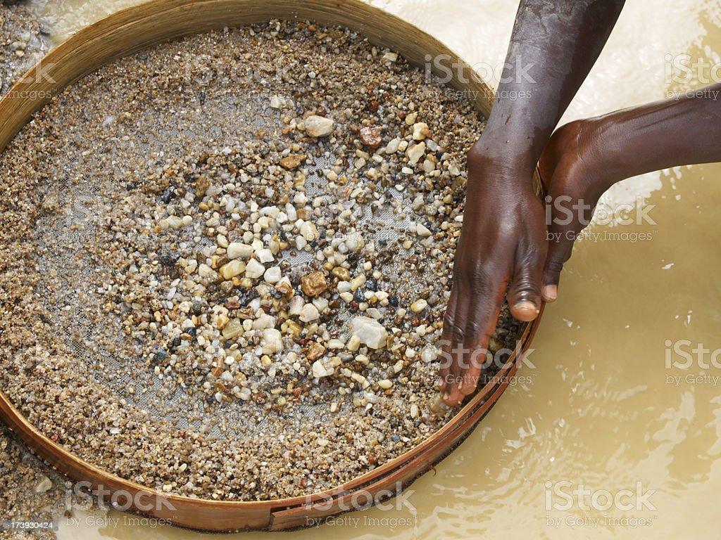 Washing Diamonds stock photo