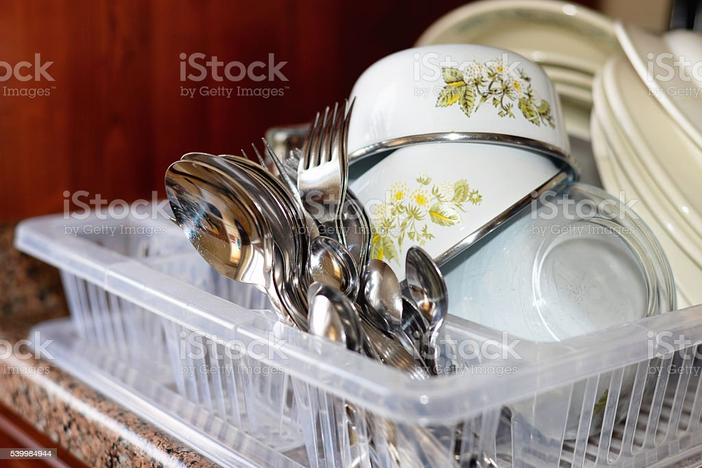 Washing Dishes stock photo