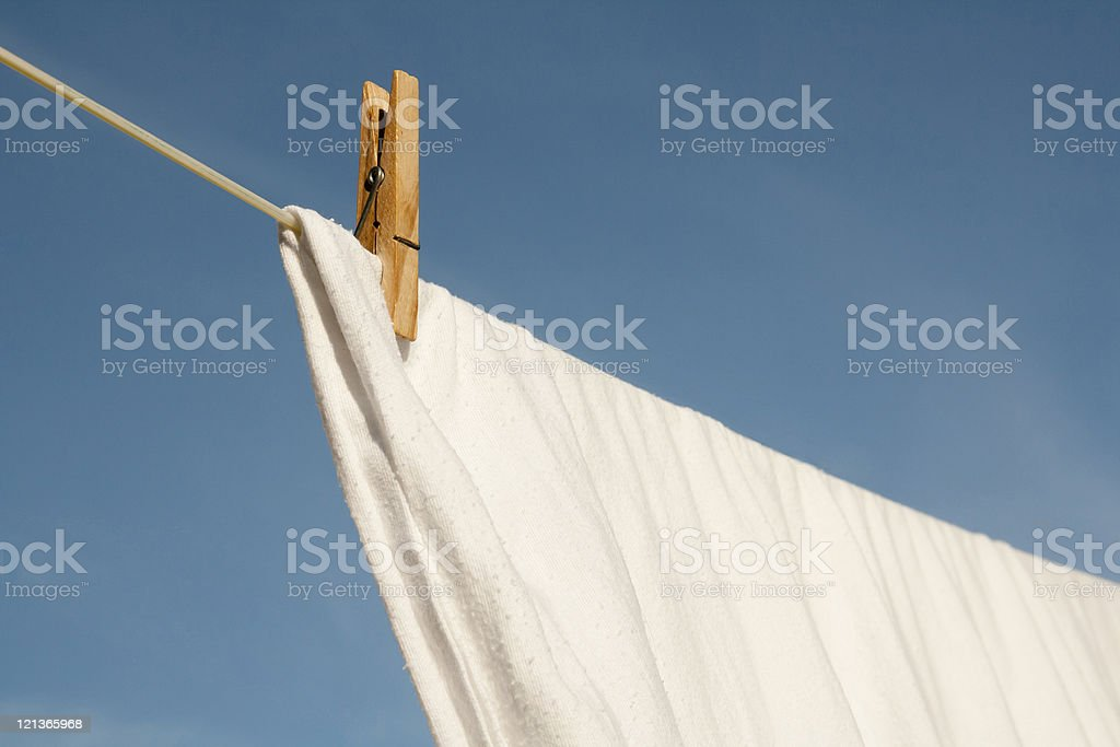 Washing drying on a clothesline royalty-free stock photo